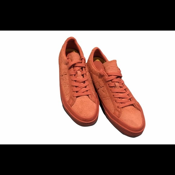 Converse ox one star fuzzy peach suede sneakers
